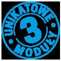 3 unikatowe moduły